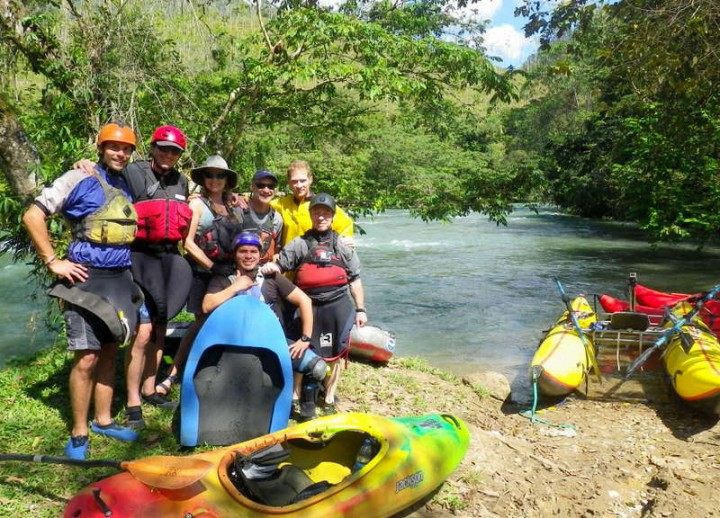 4 Our international team of river explorers (left to right, Nils, Paul, Lacey, Neil, Josh, Peter, Max)