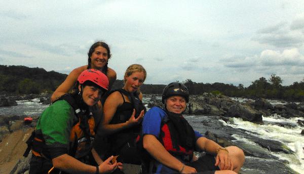 Me (back), Lulu, Katrina and Ashley