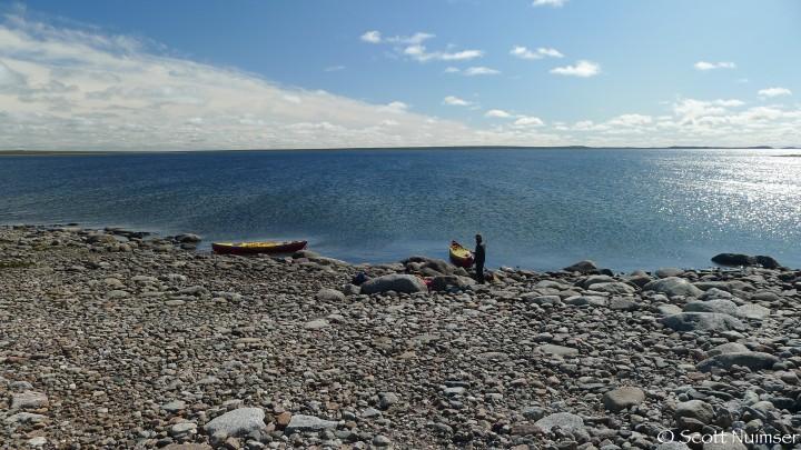 Taking a break on Lower MacDougall Lake