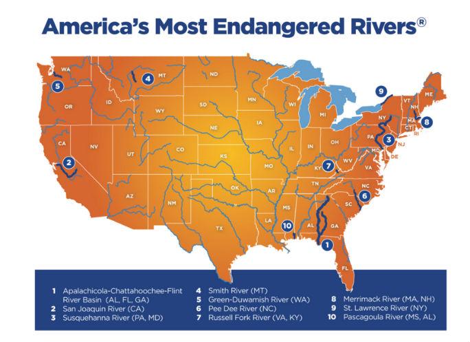 Endangered River Maps