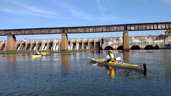 The Tillery Dam on the Pee Dee River. Photo: City of Rockingham